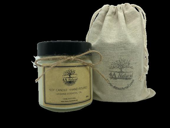 Натурална соева свещ с етерично масло жасмин 4 A Natural