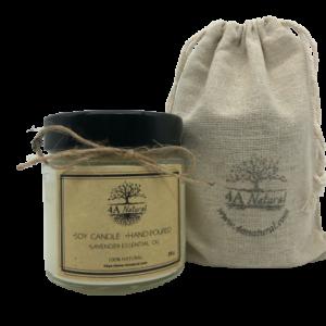 Натурална соева свещ с етерично масло лавандула 4A Natural