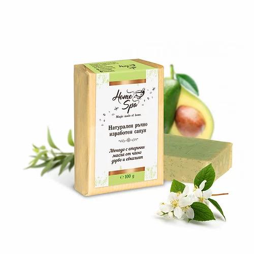 Натурален сапун Авокадо, чаено дърво и евкалипт. Козметика от 4A Natural.