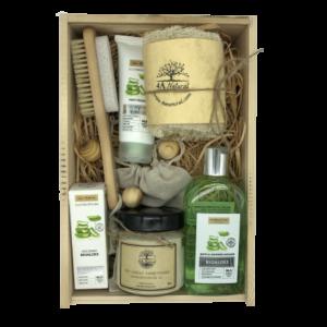 Кутия 4A Natural Aloes, козметика за лице и тяло. Подаръчна кутия