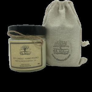 Соева свещ с етерично масло Мента и Лимон от 4A Natural