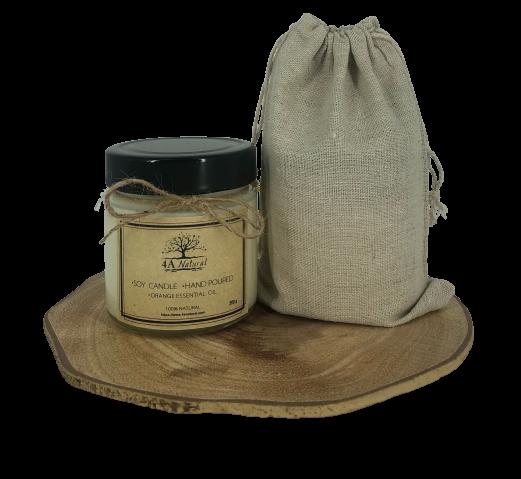 Натурална соева свещ с етерични масла.